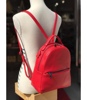 Grain leather backpack
