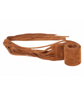 Suede belts with fringe