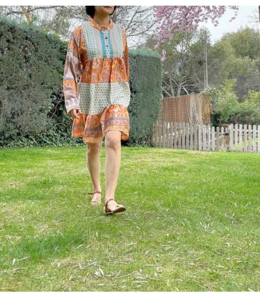 Vestido corto bohemio