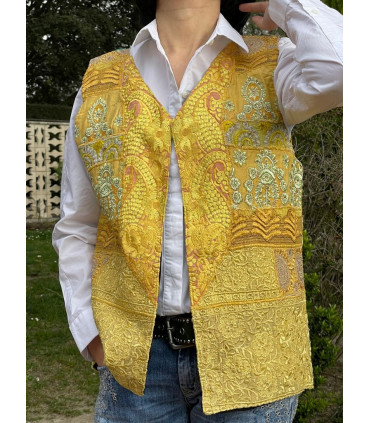 Bohemian handmade vest