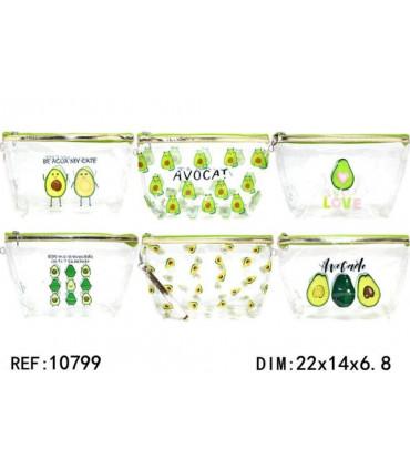 """Transparent toiletry bag avocado """"BIG"""""""