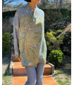 Short handmade ethnic kimono