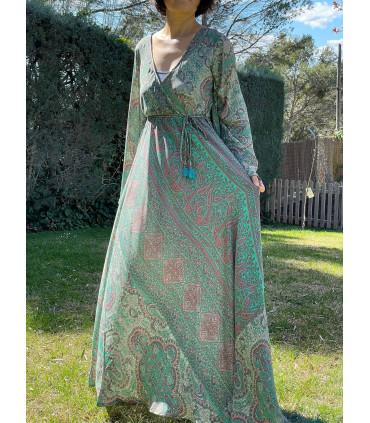 Vestido maxi estilo indio