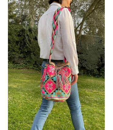 Ethnic handmade bucket bag