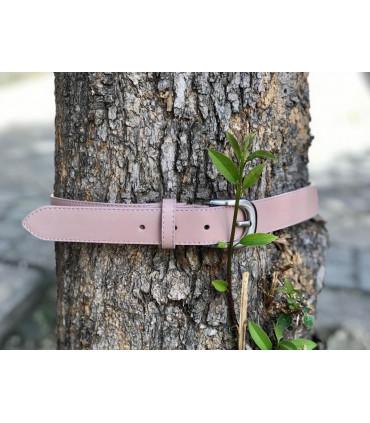 Cinturón de piel lisa de 3 cm