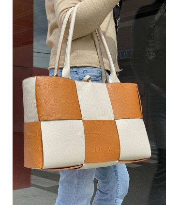 Leather braided TOTE