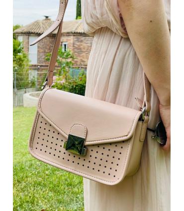 Bolso satchel sintético