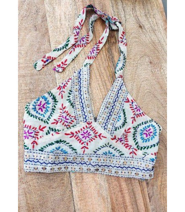 Ethnic top Hand embroidered