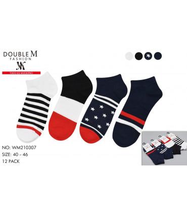 Calcetines multicolor invisibles para hombre