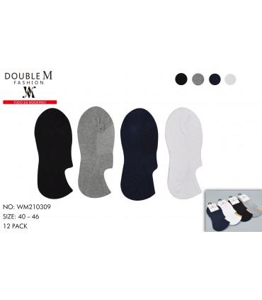 calcetines invisibles lisos para hombre