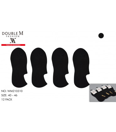 Calcetines invisibles negros para hombre