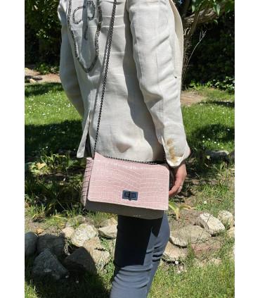 Natural leather shoulder bag