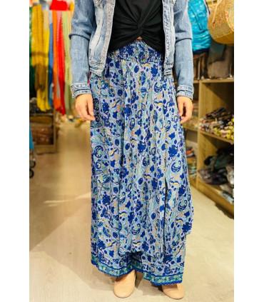 Pantalón ancho estampado estilo indio