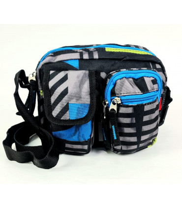 Nylon crossbag with multiple pockets
