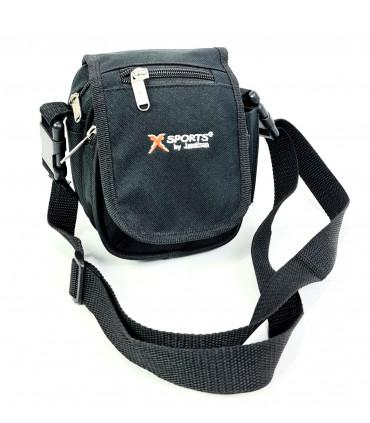 Nylon shoulder bag with flap