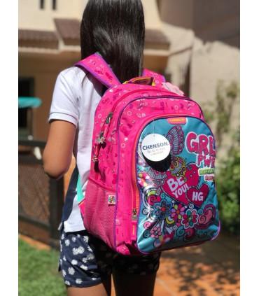 """Girl Power"" school backpack"