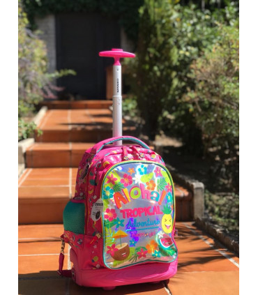 """""""Aloha"""" School Backpack with wheels"""