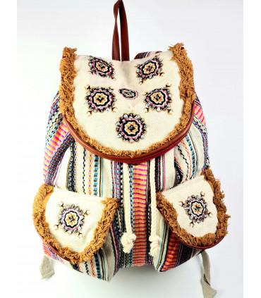 Hippy cotton backpack