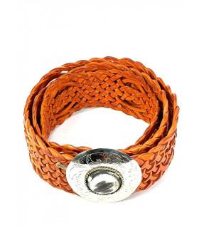 Handmade leather belt Mid-size