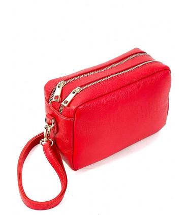 Grain leather shoulder bag