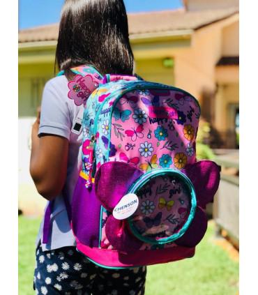 """""""Butterfly"""" Nylon school Backpack"""