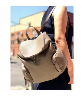 University leather backpack