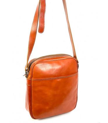 Satchel leather shoulder bag