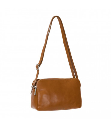 3 compartment leather crossbag