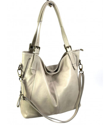 Leather bag with removable handles