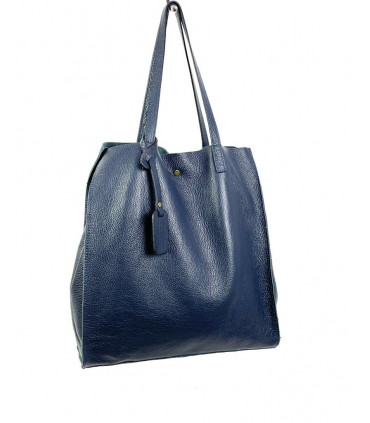 2-piece leather bag with inner bag