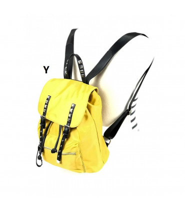 Nylon backpack with flap