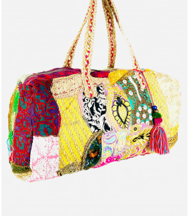 Patchwork travel and sport bag