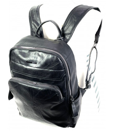 Synthetic leather backpack with tablet holder