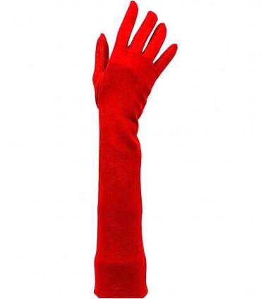 Long velvet gloves