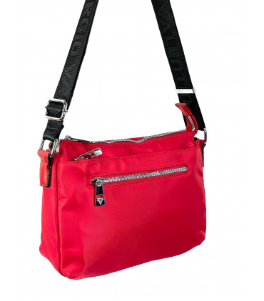 Nylon shoulder bag with two compartments