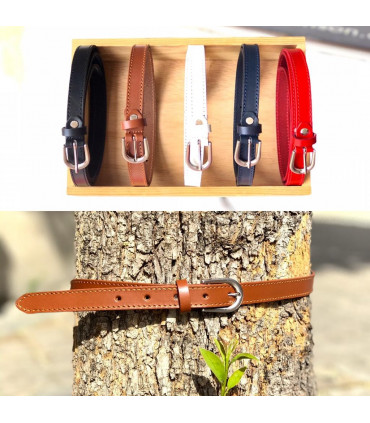 2cm leather belt. solid colors