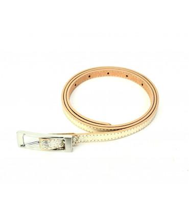Cinturón de piel 1cm liso