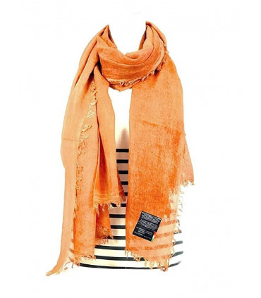 Scarves with solid color print