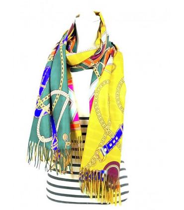 Striped print scarf