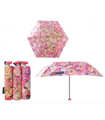 Pink flower Short Umbrella