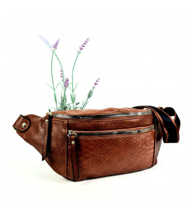 Synthetic leather fanny bag