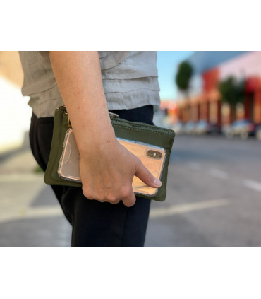 Nylon wallet with two compartments