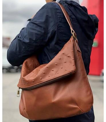 Rivet embossed leather bag