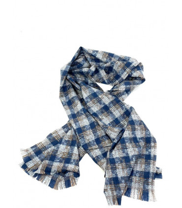 Check print scarf