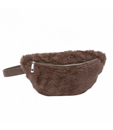 Synthetic hair fanny pack