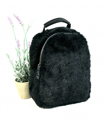 Synthetic hair mini backpack