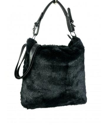 Synthetic hair hobo bag