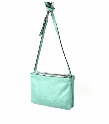 Leather 3 pocket crossbag