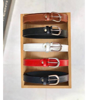 Leather belt of 2cm