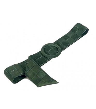 Cinturón de piel trenzado con serraje
